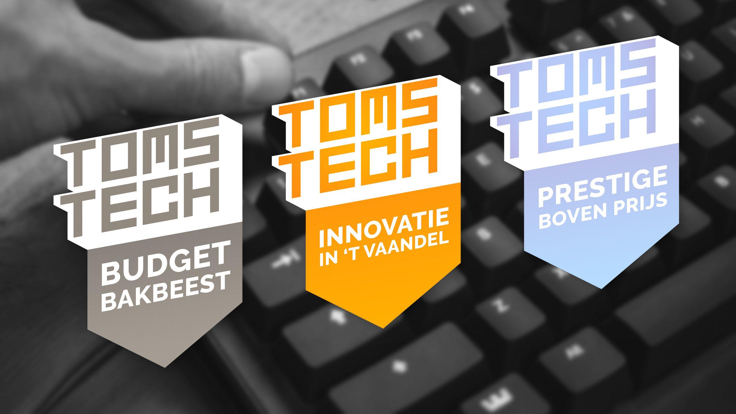 """Dit zijn de drie """"vaandels"""" die Toms Tech vanaf heden uit zal rijken aan topproducten."""