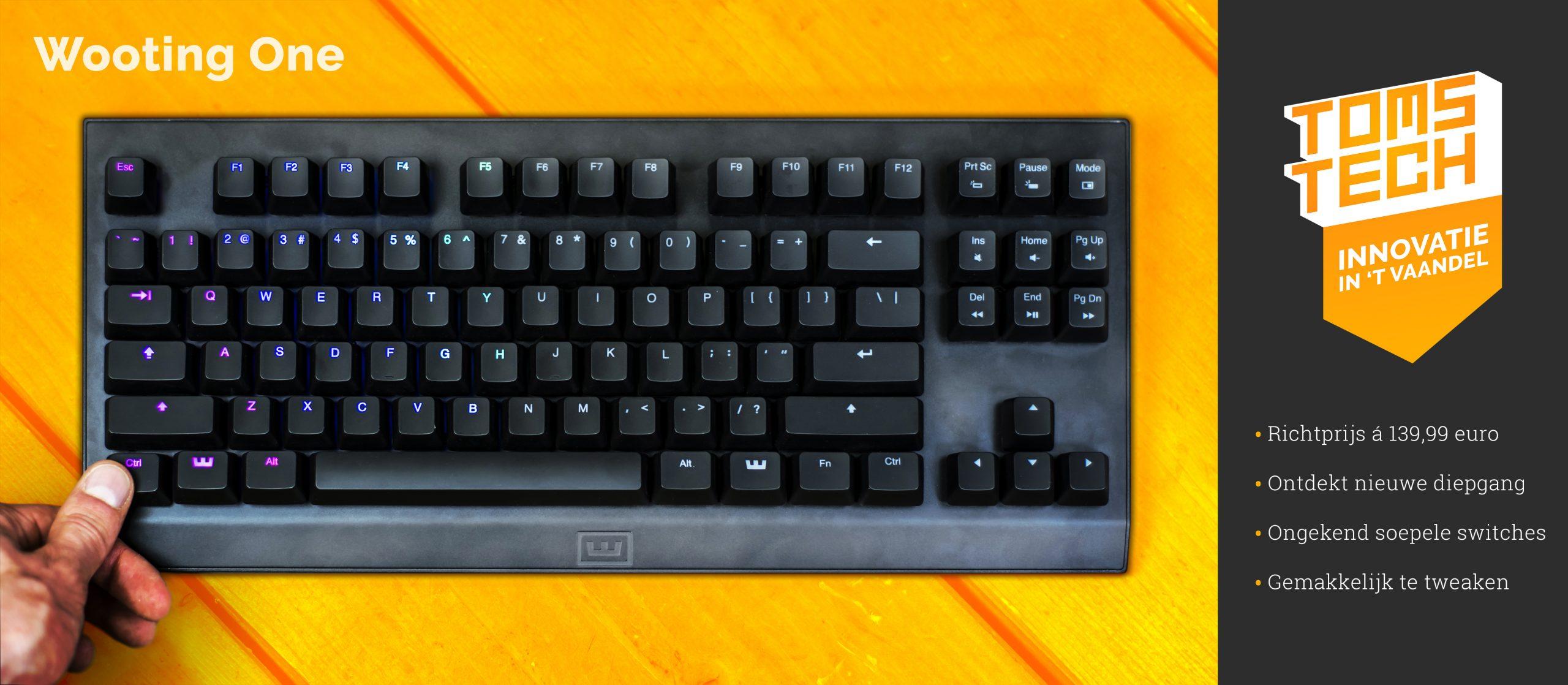 """De Wooting One valt als eerste in de prijzen onder """"Innovatie in 't Vaandel"""" — Met analoge input duikt Wooting nieuwe dieptes in voor gaming-toetsenborden."""